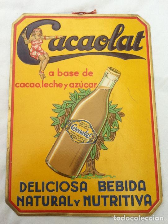 Cacaolat cartel publicitario de carton disp comprar carteles antiguos publicitarios en - Carteles publicitarios antiguos ...