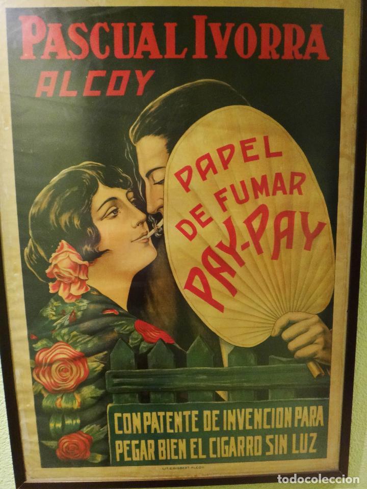Cartel publicidad papel de fumar pay pay pasc comprar carteles antiguos publicitarios en - Carteles publicitarios antiguos ...
