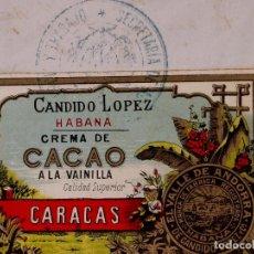Carteles Publicitarios: MARCAS Y PATENTES REPUBLICA DE CUBA, VALLE DE ANDORRA, CREMA DE CACAO A LA VAINILLA, 1915. Lote 87257736