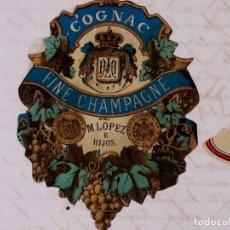 Carteles Publicitarios: MARCAS Y PATENTES REPUBLICA DE CUBA, COGNAC EL ESCUDO, 1891. Lote 87259680