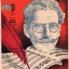 Carteles Publicitarios: CARTEL POSTER CINE , LA DOLOROSA , ESTRENO AÑOS 1930 , CARRILERO ABAD , ORIGINAL 30 X 20,5 CMS. Lote 87420548
