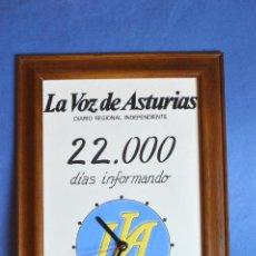 Carteles Publicitarios: CUADRO AZULEJO CON RELOJ DIARIO(DESPARECIDO) LA VOZ DE ASTURIAS. Lote 87507748