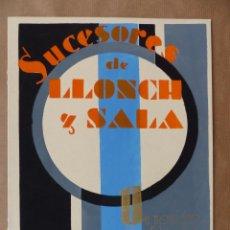 Carteles Publicitarios: SABADELL (BARCELONA) - SUCESORES DE LLONCH Y SALA - PINTADO A MANO. Lote 194572770