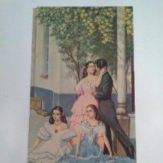 Affiches Publicitaires: CARTEL DE PASAS DE MÁLAGA. HIJOS DE A. RAMOS. VELEZ-MÁLAGA.. Lote 87734864