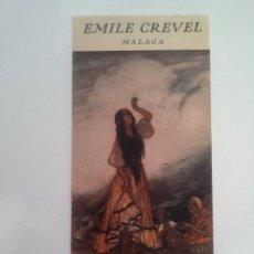 Carteles Publicitarios: CARTEL EMILE CREVEL. MÁLAGA. GITANA.. Lote 87738908
