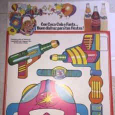 Carteles Publicitarios: LOTE 3 CARTELES AÑOS 80 DE COCA-COLA Y FANTA, IDEAL DECORACIÓN. MEDIDA: 68.5 CM / 31.5 CM. Lote 91231987
