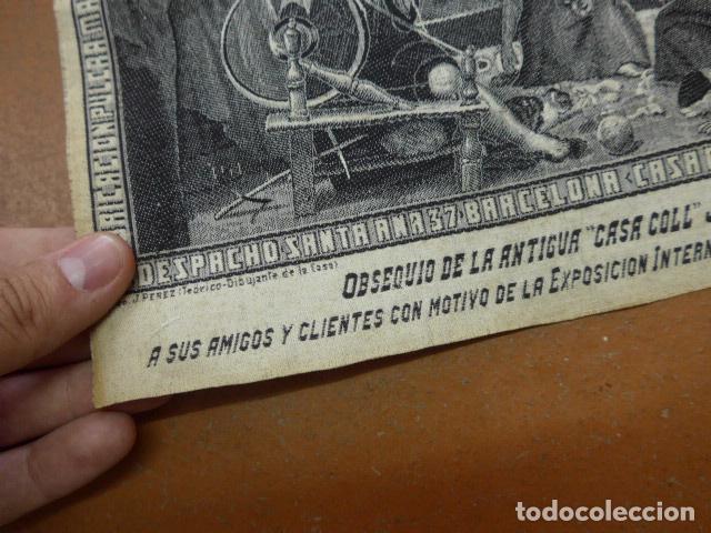 Carteles Publicitarios: Antiguo tapiz de publicidad de casa coll Ribot barcelona, de exposicion internacional 1929 - Foto 5 - 92280055
