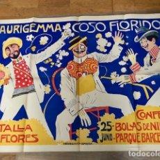 Carteles Publicitarios: RARISIMO ANTIGUO ORIGINAL CARTEL POSTER AURIGEMMA COSSO FLORIDO L BRUNET 1902. Lote 92286130