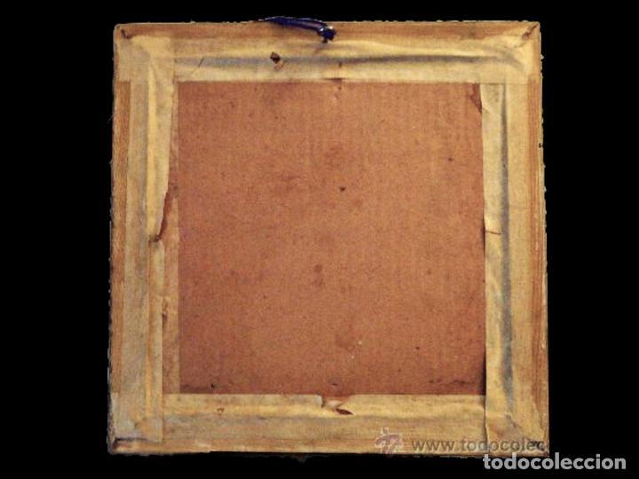 Carteles Publicitarios: Antiguo, coqueto y muy curioso cuadro de lanas San Antonio, Zaragoza. comercio. - Foto 2 - 29009351