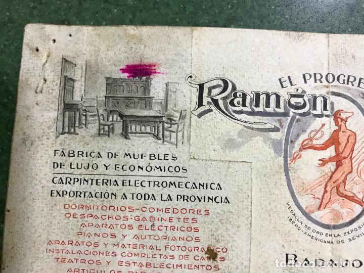 Carteles Publicitarios: BADAJOZ - EL PROGRESO RAMON SALAS, FABRICA DE MUEBLES DE LUJO Y ECONOMICOS - ORIGINAL PINTADO A MANO - Foto 3 - 94403558