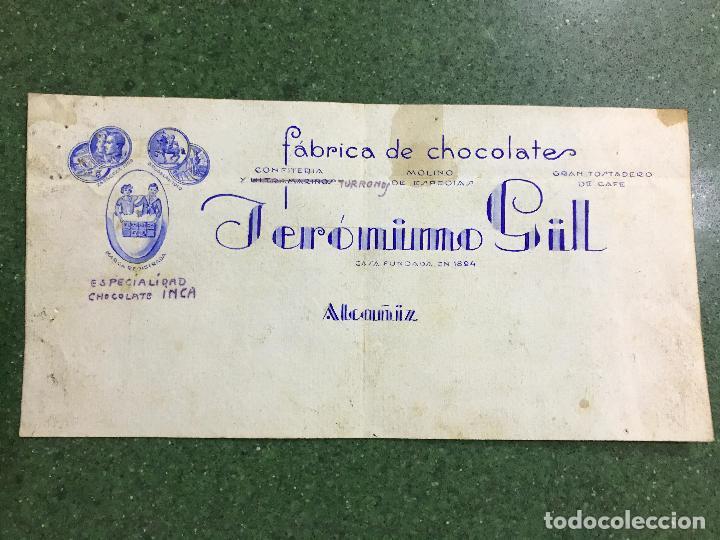 ALCAÑIZ, TERUEL - FABRICA DE CHOCOLATES JERONIMO GIL - ORIGINAL PINTADO A MANO (Coleccionismo - Carteles Gran Formato - Carteles Publicitarios)