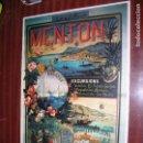 Carteles Publicitarios: (F.1) CARTEL PUBLICITARIO DE EXCURSIONES MENTON M: 41 X 30 CM. Lote 95729155