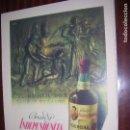 Carteles Publicitarios: (F.1) CARTEL PUBLICITARIO DE BRANDY INDEPENDENCIA DE OSBORNE M: 41 X 30 CM. Lote 95729944
