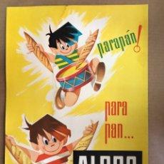 Carteles Publicitarios: CARTON PUBLICITARIO PAN ALBRO - CARTON BLANDO - AÑO 1960. Lote 206426850