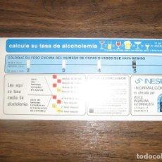 Carteles Publicitarios: ALCOHOLIMETRO PUBLICIDAD MUTUA MADRILEÑA. AÑOS 70.. Lote 96756767