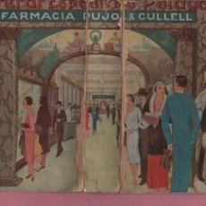 Carteles Publicitarios: CARTÓN PUBLICIDAD - CENTRAL ESPECIFICO PELAYO ,56 FARMACIA PUJOL AND CULELL - RAMON BAIXERAS. Lote 97370763