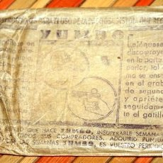 Carteles Publicitarios: SOBRE ORIGINAL DE LA FAMOSA PISTOLA YUMBO, LA PRECIOSA PISTOLA QUE REGALA. CON INSTRUCCIONES DE USO. Lote 97406123