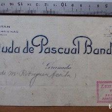 Carteles Publicitarios: GRANADA - EL CAPITAN FABRICA DE HARINAS, VIUDA DE PASCUAL BANDRES - ORIGINAL PINTADO A MANO. Lote 98663387
