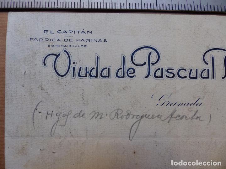 Carteles Publicitarios: GRANADA - EL CAPITAN FABRICA DE HARINAS, VIUDA DE PASCUAL BANDRES - ORIGINAL PINTADO A MANO - Foto 2 - 98663387