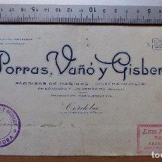 Carteles Publicitarios: CORDOBA - FABRICA DE HARINAS, SISTEMA BUHLER, PORRAS VAÑO Y GISBERT - ORIGINAL PINTADO A MANO. Lote 98663703