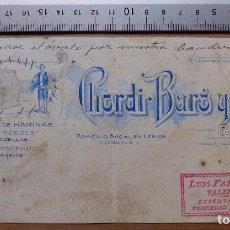 Carteles Publicitarios: LERIDA - FABRICA DE HARINAS, CHORDI BARO Y CIA. - ORIGINAL PINTADO A MANO. Lote 98664007