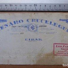 Carteles Publicitarios: EIBAR, GUIPUZCOA - FABRICA DE ARMAS, GENARO CRUCELEGUI - ORIGINAL PINTADO A MANO. Lote 98664303