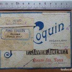 Carteles Publicitarios: PUERTO DE SANTA MARIA, CADIZ - FINO COQUIN, F. JAVIER JIMENEZ - ORIGINAL PINTADO A MANO. Lote 98692987