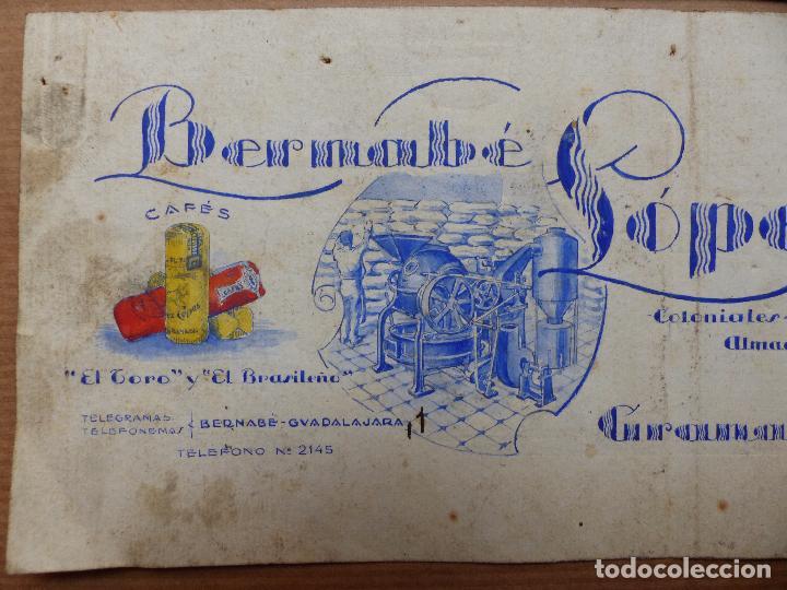 Carteles Publicitarios: GRANADA - CAFES TOSTADOS, COLONIALES, BERNABE LOPEZ CEPAS - ORIGINAL PINTADO A MANO - Foto 2 - 98693131