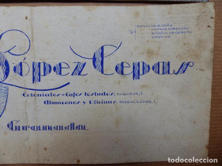Carteles Publicitarios: GRANADA - CAFES TOSTADOS, COLONIALES, BERNABE LOPEZ CEPAS - ORIGINAL PINTADO A MANO - Foto 3 - 98693131