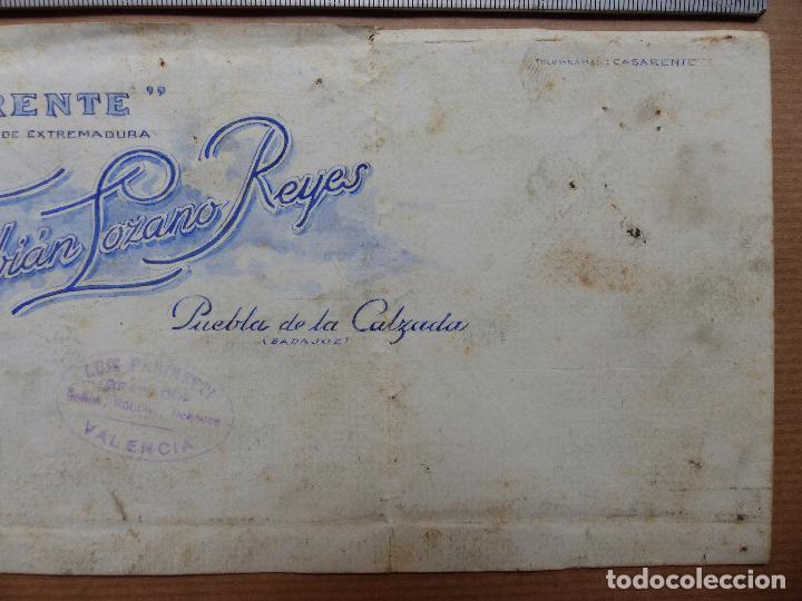 Carteles Publicitarios: PUEBLA DE LA CALZADA, BADAJOZ - CASARENTE, VINO DE EXTREMADURA, F, LOZANO - ORIGINAL PINTADO A MANO - Foto 3 - 98693851