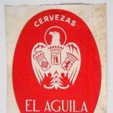 Carteles Publicitarios: ANTIGUA CALCOMANÍA GRANDE DE CERVEZAS EL ÁGUILA. Lote 99419531