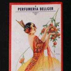 Carteles Publicitarios: CARTEL PUBLICIDAD - CALENDARIO DE PARED 1935 PERFUMERIA BELLGER - JERONIMO BELLIDO, ALTEA (ALICANTE). Lote 99829247
