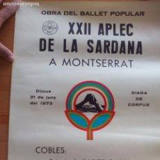 Carteles Publicitarios: NUEVO CARTEL APLEC SARDANA EN MONTSERRAT EN EL CORPUS DE 1973. Lote 100440091