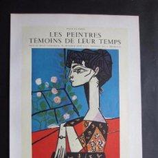 Carteles Publicitarios: 1963-MUSEO GALERIA PARIS. EXPOSICIÓN DE PABLO PICASSO. DOS CARTELES ORIGINALES DE 1963. Lote 101006631
