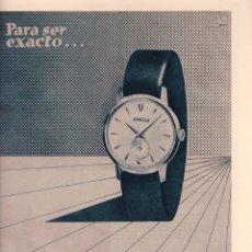 Carteles Publicitarios: RELOJ EXACTUS - PUBLICIDAD - 25 X 32,5 CM. - ORIGINAL / ABRIL 1954. Lote 101626339