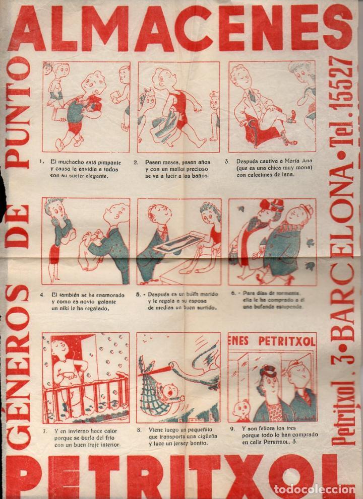 AUCA ALELUYA ALMACENES PETRITXOL (Coleccionismo - Carteles Gran Formato - Carteles Publicitarios)
