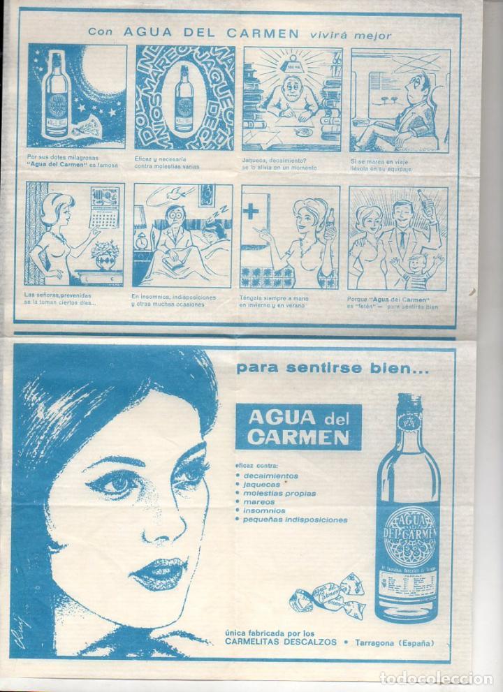 AUCA ALELUYA AGUA DEL CARMEN (Coleccionismo - Carteles Gran Formato - Carteles Publicitarios)
