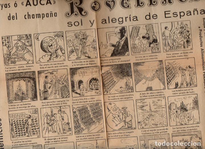 AUCA ALELUYA CHAMPAÑA ROVELLATS (Coleccionismo - Carteles Gran Formato - Carteles Publicitarios)