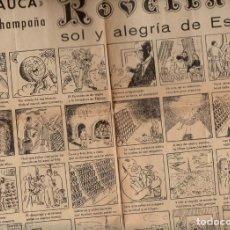 Carteles Publicitarios: AUCA ALELUYA CHAMPAÑA ROVELLATS. Lote 102056271