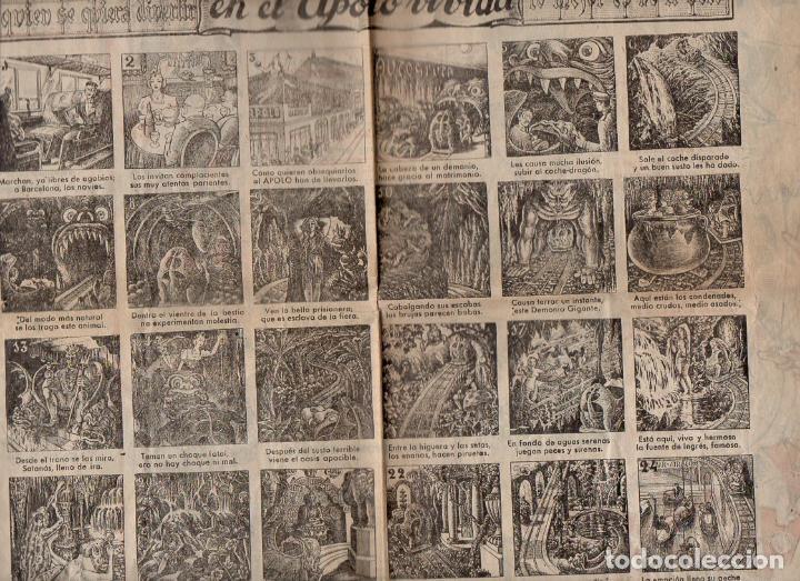 AUCA ALELUYA HISTORIETA DIVERTIDA EN EL APOLO VIVIDA (PARQUE DE ATRACCIONES APOLO, BARCELONA) (Coleccionismo - Carteles Gran Formato - Carteles Publicitarios)