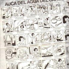 Carteles Publicitarios: AUCA DEL AGUA DEL CARMEN. Lote 103263659