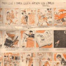 Carteles Publicitarios: AUCA DEL DÍA DEL LIBRO 1956. Lote 103264007
