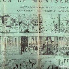 Carteles Publicitarios: AUCA DE MONTSERRAT ILUSTRADA POR JUNCEDA. Lote 103264243