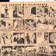 Carteles Publicitarios: AUCA LES COQUES DE VILAFRANCA (1935). Lote 103265735