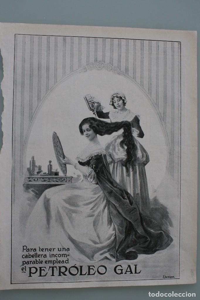 Carteles Publicitarios: 12 PRECIOSOS ANTIGUOS ANUNCIOS PUBLICITARIOS PETROLEO GAL CABELLO AÑO 1915 ORIGINALES NO SON COPIAS - Foto 3 - 104286827