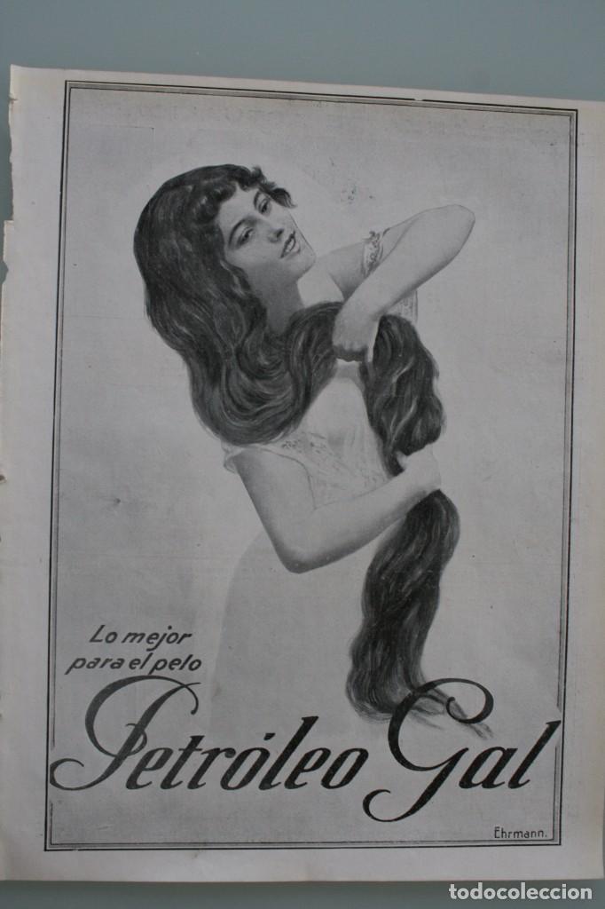 Carteles Publicitarios: 12 PRECIOSOS ANTIGUOS ANUNCIOS PUBLICITARIOS PETROLEO GAL CABELLO AÑO 1915 ORIGINALES NO SON COPIAS - Foto 4 - 104286827