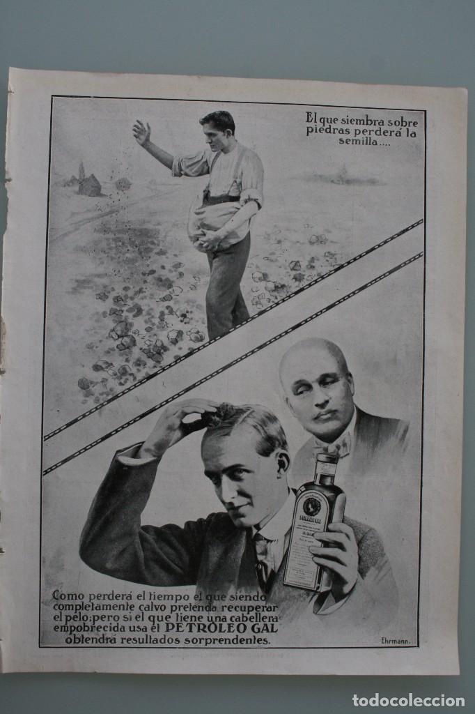 Carteles Publicitarios: 12 PRECIOSOS ANTIGUOS ANUNCIOS PUBLICITARIOS PETROLEO GAL CABELLO AÑO 1915 ORIGINALES NO SON COPIAS - Foto 5 - 104286827