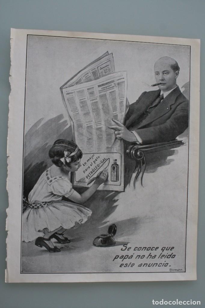 Carteles Publicitarios: 12 PRECIOSOS ANTIGUOS ANUNCIOS PUBLICITARIOS PETROLEO GAL CABELLO AÑO 1915 ORIGINALES NO SON COPIAS - Foto 8 - 104286827