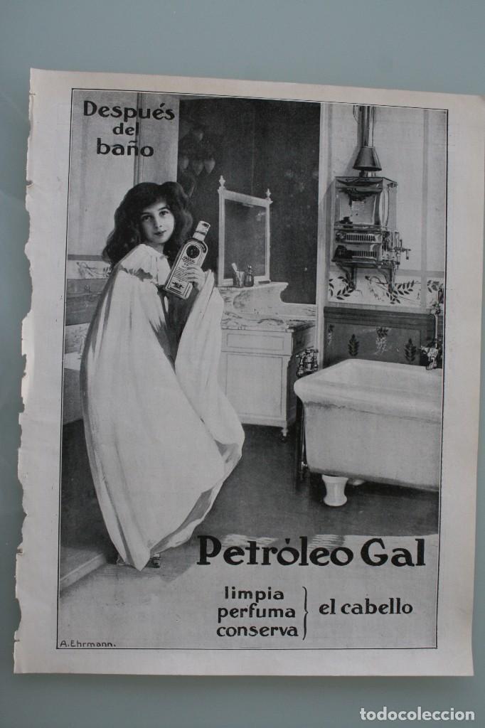 Carteles Publicitarios: 12 PRECIOSOS ANTIGUOS ANUNCIOS PUBLICITARIOS PETROLEO GAL CABELLO AÑO 1915 ORIGINALES NO SON COPIAS - Foto 9 - 104286827