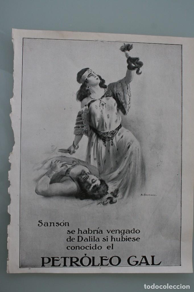 Carteles Publicitarios: 12 PRECIOSOS ANTIGUOS ANUNCIOS PUBLICITARIOS PETROLEO GAL CABELLO AÑO 1915 ORIGINALES NO SON COPIAS - Foto 11 - 104286827